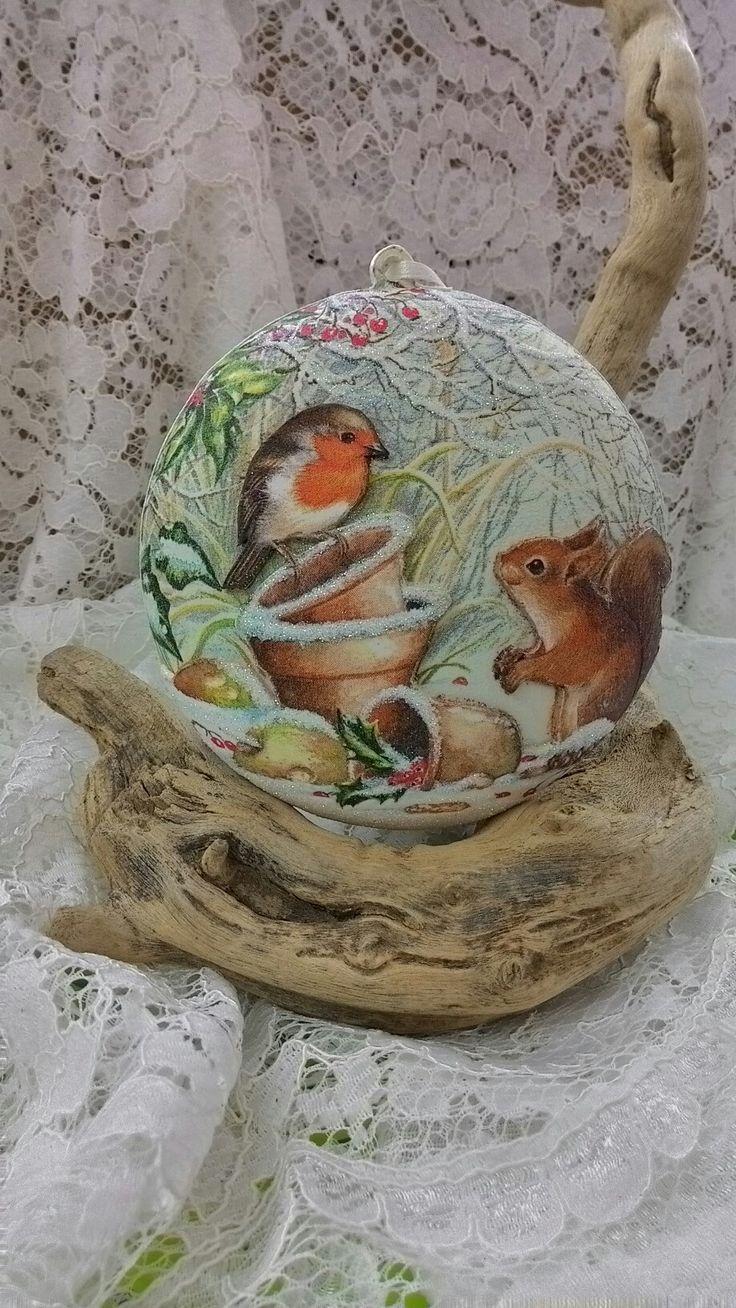 Med. Pettirosso e scoiattolo
