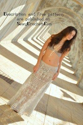 free pattern os crochet maxi skirt from SexyCrochet