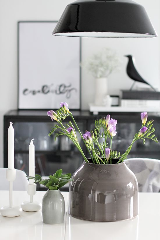 Via Stylizimo | Hints of Purple | Eames House Bird | Iittala Candle Holder
