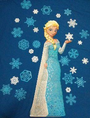 Queen Elsa - Frozen Hama perler beads (1,5m)  by Hamamia on DeviantArt