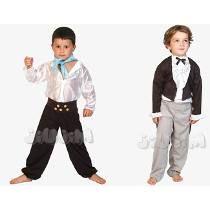Disfraz Patrio Caballero O Gaucho 3-9 Años Hermosos! Jiujim