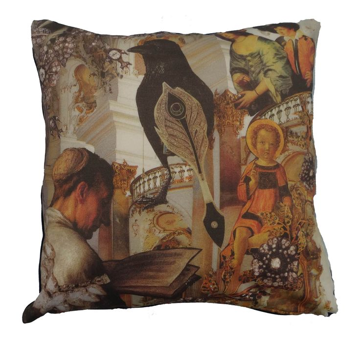 Cotton plush cushion that shows part of the famous story The Snow Queen by Hans Christian Andersen #snowqueen #priest #hcandersen #cushion #pillow #decor #digitalprint #cushionsale #shop #handmade #buy #art #fairytale #homedesign #print #interiordesign #luxury #story #forbed