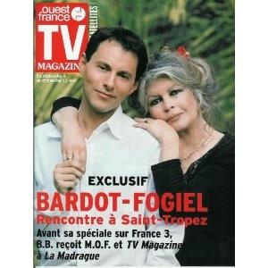 Brigitte Bardot et Marc-Olivier Fogiel : Exclusif, rencontre à Saint-Tropez, dans TV Magazine Ouest-France n°17804 du 02/05/2003 [couverture et article mis en vente par Presse-Mémoire]