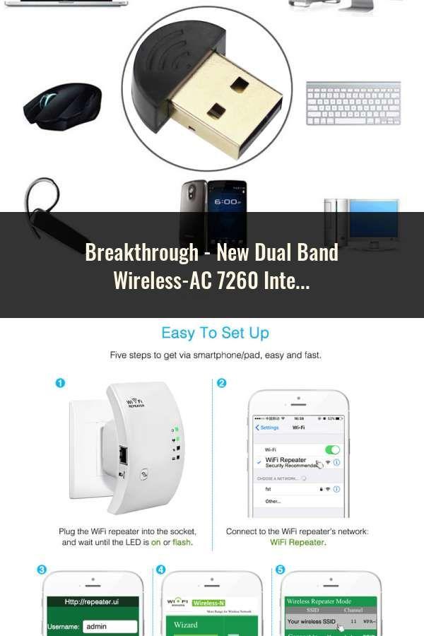 New Dual Band Wireless-AC 7260 Intel 7260HMW 7260AC 2 4G/5Ghz 802 11