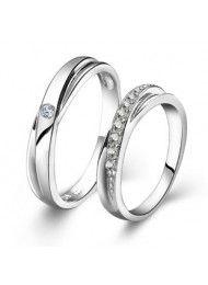 Sterling zilveren ring koppels, kunnen koppels worden gegraveerd op de ring 0127