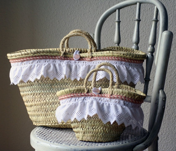 Mother and daugther Straw Bag :) Capazos para mamá e hija :)