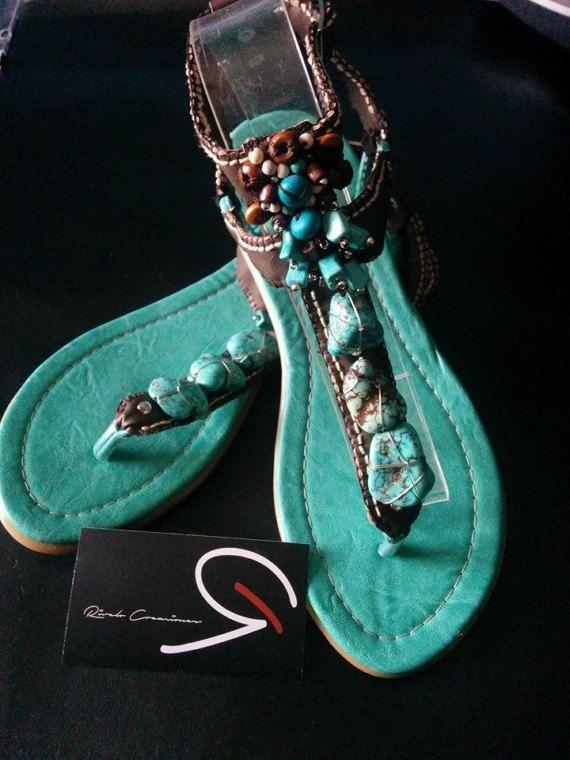 Turquoise Sandals Model: Tulum Womens Sandals