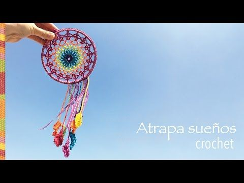 Crochet paso a paso: atrapa sueños arcoíris! - YouTube