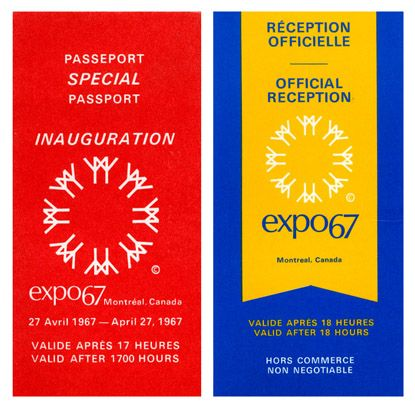 Expo67Special Event Passes/Tickets