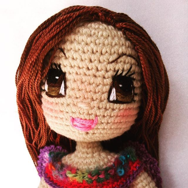 Crochet Amigurumi Doll Cal Ep1 Head And Eyes Youtube - All Crochet ... | 640x640