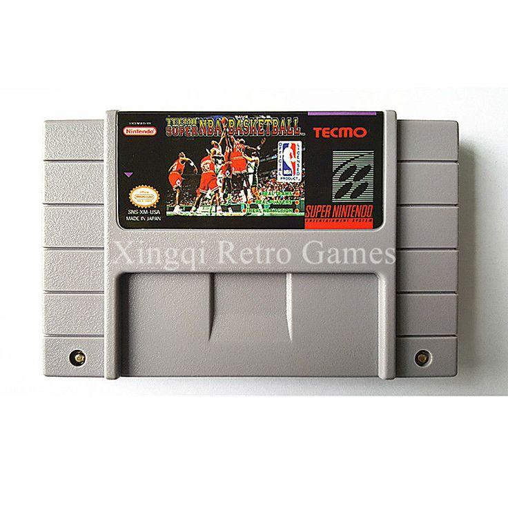 >> Click to Buy << Super Nintendo SFC/SNES Game Tecmo Super NBA Basketball Video Game Cartridge Console Card NTSC US English Version #Affiliate