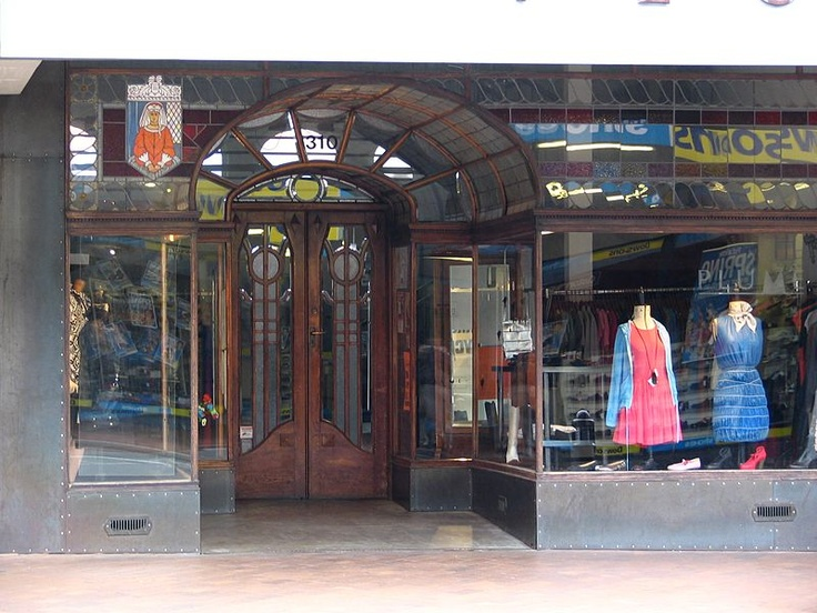 Entrance to Plume Clothes Shop on George Street, Dunedin, New Zealand