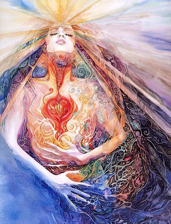 The heart of my soul!Healthy Heart, Inspiration, Trav'Lin Lights, Watercolors Portraits, Goddesses, Artists Helena, Watercolors Art, Helena Nelson Reed Art, Planets Earth