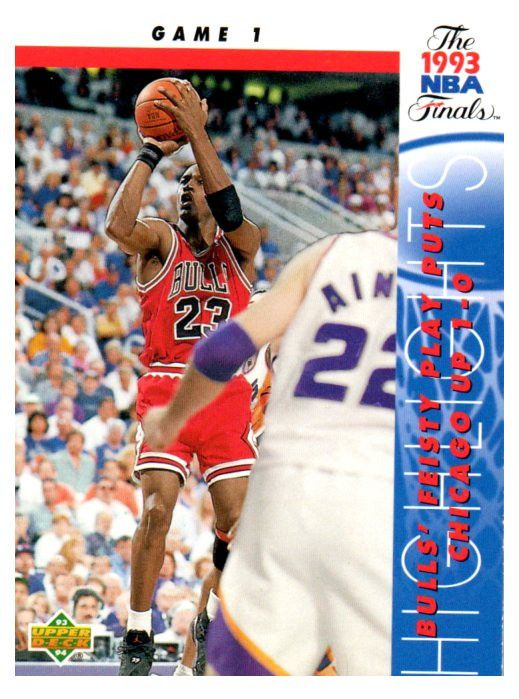 1993-94 Upper Deck Michael Jordan NBA Finals Game 1 Chicago Bulls