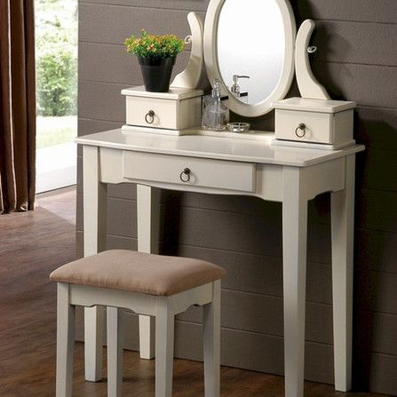 black vanity table with mirror and bench bedroom vanity