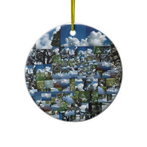 Summer day christmas tree ornament