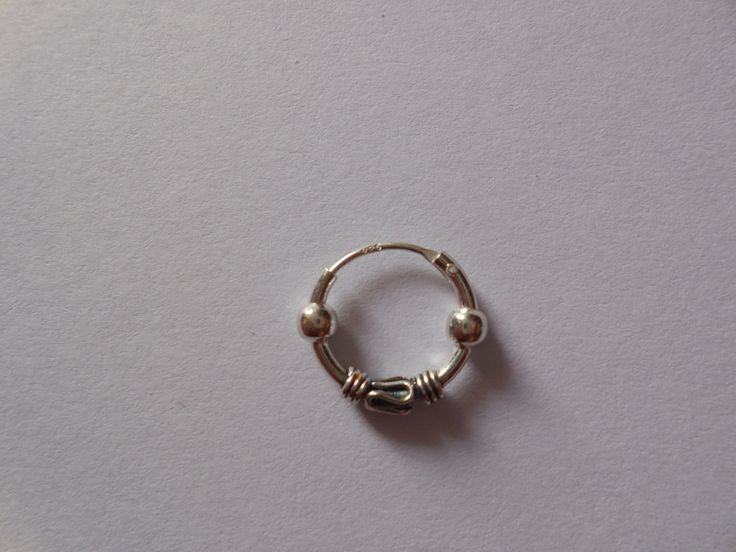 how to make a nose ring hoop small