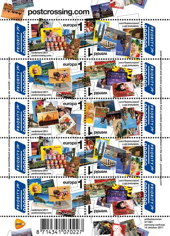 Dutch Postcrossing postage stamps