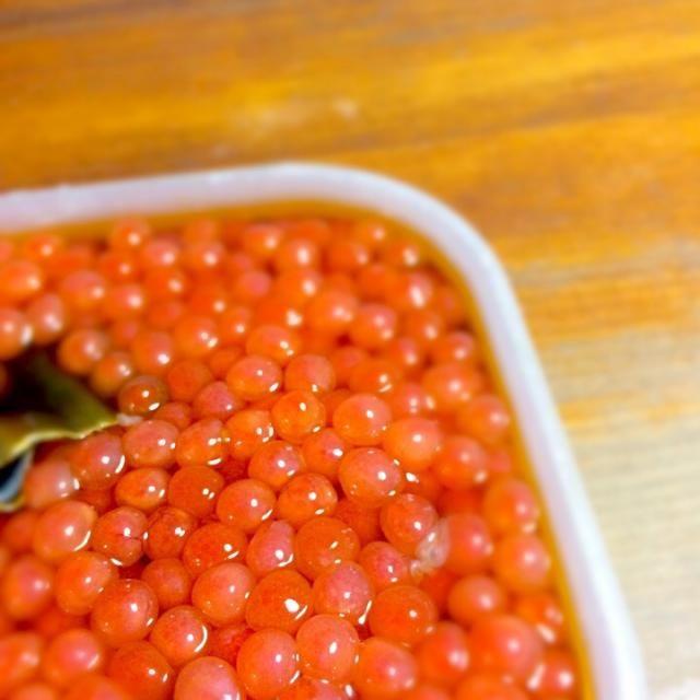 冬といえば! あしたの朝ごはんに食べる予定(*´∇`*) - 8件のもぐもぐ - いくら醤油漬け by lepus472