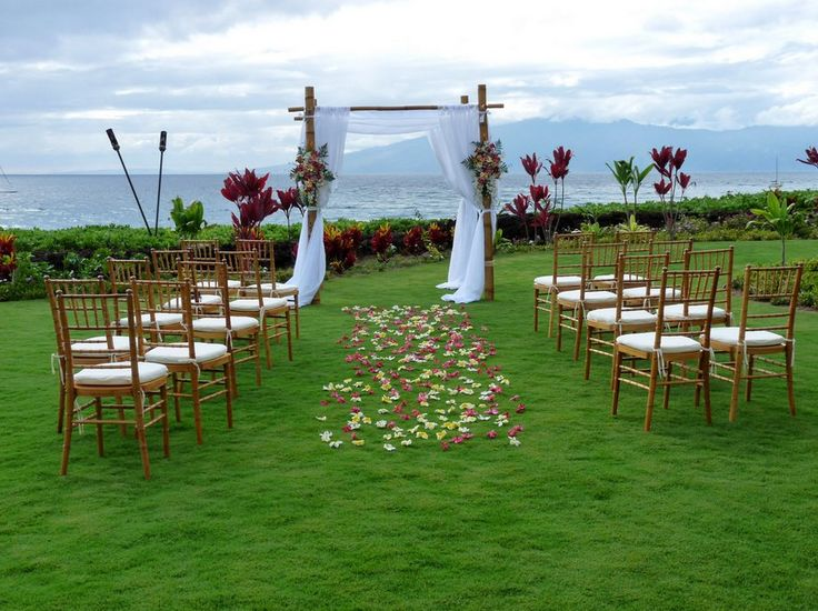 For a classic Hawaiian destination wedding with a relatively affordable price tag, consider an oceanfront ceremony at sunset at the Royal Lahaina Resort in Maui. The resort offers a variety of packages that can accomodate both small parties and larger services with up to 500 guests.