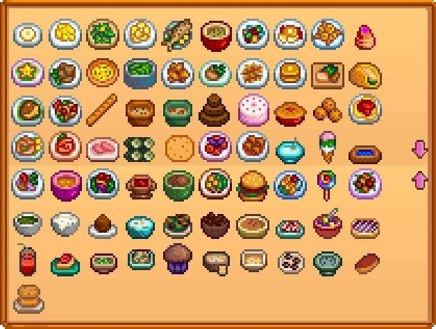 Sims  Food Difficulty List