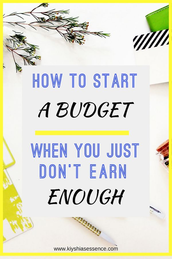 How to start a Budget when you don't earn enough