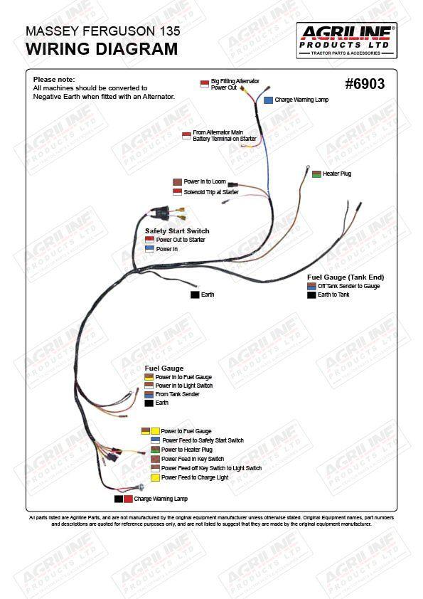 Mf 135 Wiring Diagram Schema Wiring Diagrams Alternator Massey Ferguson New Starter