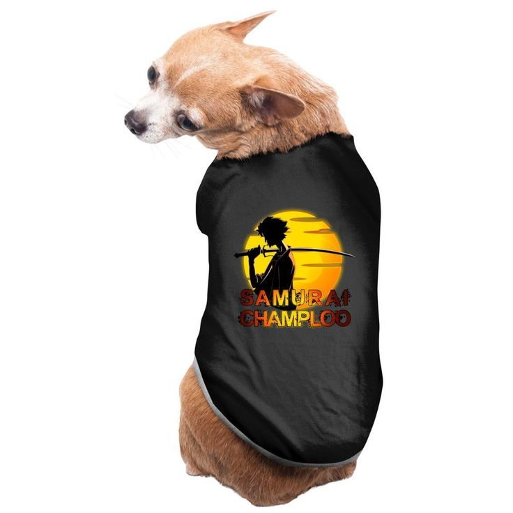 PIPI Popular Cartoon Warrior Samurai Champloo Fashion Dog Clothes Popular Cartoon Warrior Samurai Champloo Excellent Gift For Dogs And Dog Lovers. Read  more http://dogpoundspot.com/dog-luxury-store-1651/  Visit http://dogpoundspot.com for more dog review products
