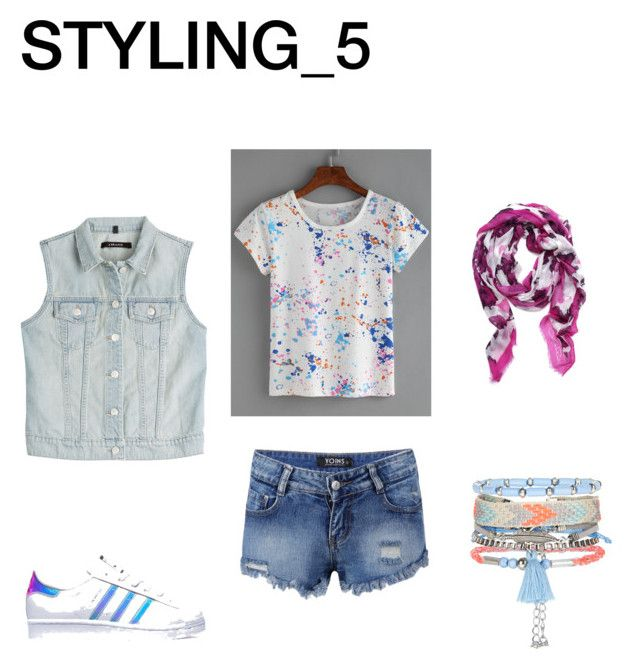 STYLING_5 (SUMMER) by alyants-stylist on Polyvore featuring мода, J Brand, adidas, New Look and Oscar de la Renta
