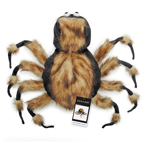 "Zack & Zoey Fuzzy Tarantula Costume for Dogs 16"" Medium"