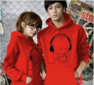 Jual Sweater Couple Music Red | kaoskeren.net