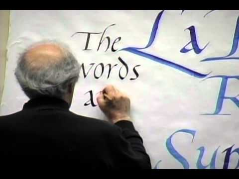 Lloyd reynolds robert palladino calligraphy lecture and Calligraphy as a career