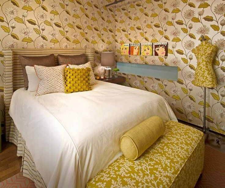 http://taizh.com/wp-content/uploads/2014/10/eclectic-Houston-bedroom-interior-design-with-Interesting-comic-strip-decoration-ideas-and-white-bed-cover-as-well-yellow-floral-wallpaper-and-sleeper-sofa-including-small-lamp-desk-corner.jpg