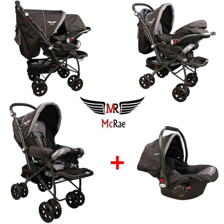 McRae MC 750T Comfort Travel Sistem Çift Yönlü Lux Bebek Arabası - Siyah :: KALİTEDE UYGUN FİYAT