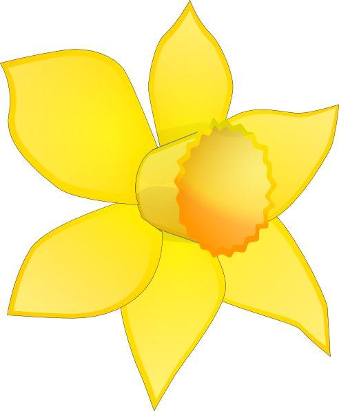 Daffodil Flower Clip Art   Daffodil Image Stripped Clip Art at Clker.com…