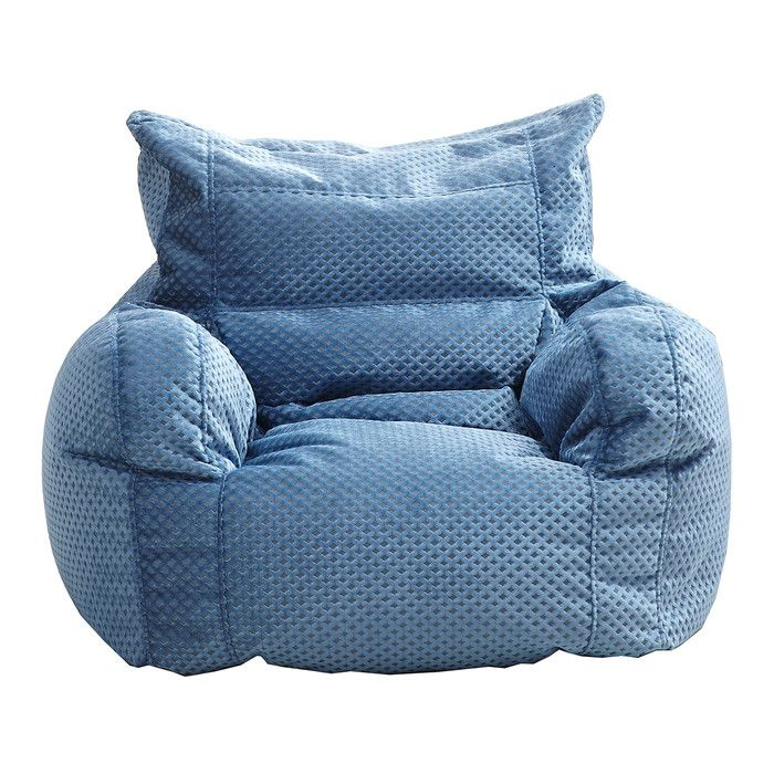 The Bean Bag Chair has all of the comfort and excitement of a traditional bean bag combined with handy features that set it apart from the original. This bean bag gives you both back support and arm rests. The double-stitched panels are durable and the childproof safety zipper will keep the contents and your family safe.