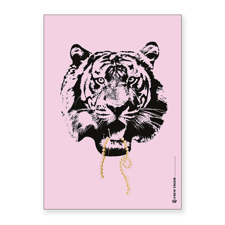 Discover+the+Studio+Lisa+Bengtsson+A3+Print+-+Pink+Coco+Tiger+at+Amara