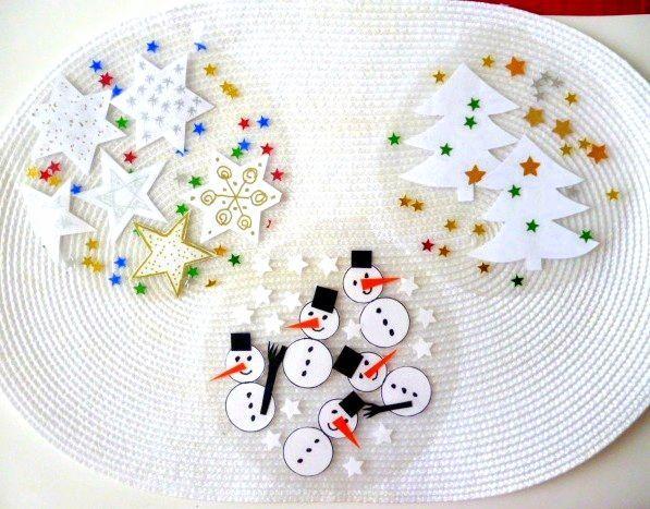 Untersetzer,Festerdeko u. Teelichter aus Klebefolien - Weihnachten-basteln - Meine Enkel und ich