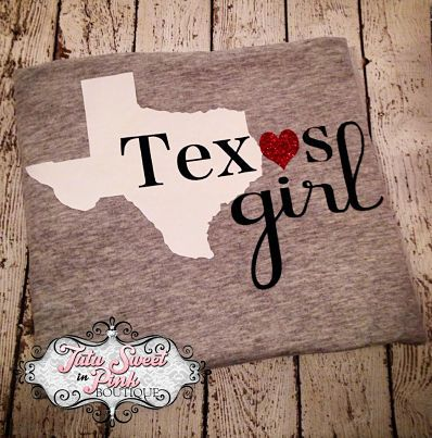 Texas Girl Shirt Choose your state! poshlittlebaby.com