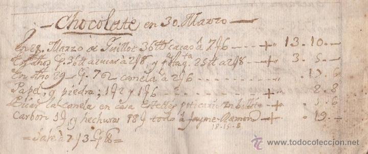 Manuscritos antiguos: El Manuscrito de la receta de Chocolate más antiguo conservado año 1744 siglo XVIII - Foto 2 - 53861624