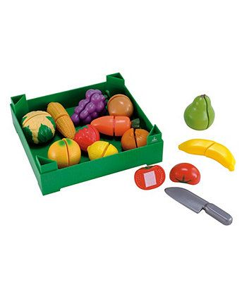 Crate of Cut and Play Fruit and Vegetables | play food & shopping toys | ELC
