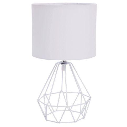 Living & Co Geo Wire Table Lamp White 35cm
