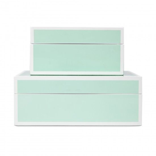 Perfect mint green storage boxes home pinterest for Decor 720 container