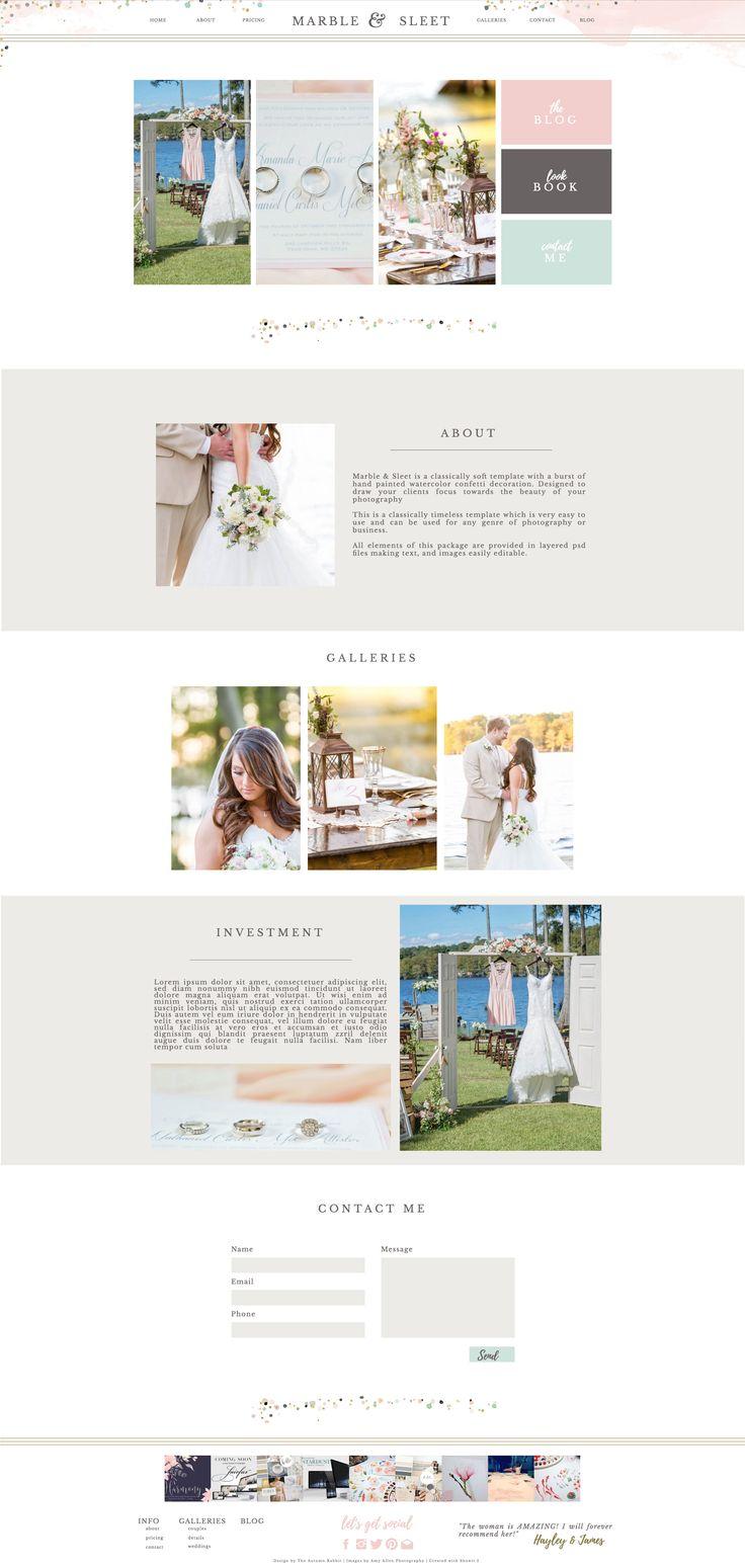 Atemberaubend Website Vorlage Für Fotografen Ideen - Entry Level ...