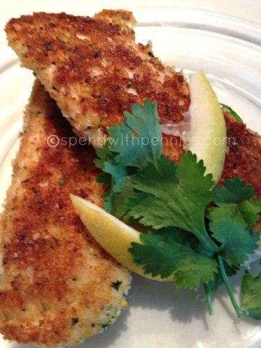 Crispy parmesan tilapia recipe the photo bread crumbs for Crispy baked whiting fish recipes