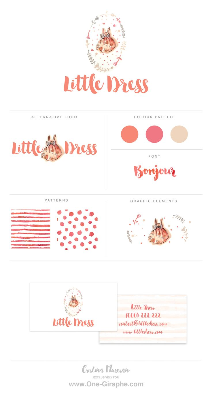 Logo for sale! www.One-Giraphe.com In collaboration with artist Cristina Mureșan-Toth we offer Custom Hand Drawn Logo Design ♥ Find out more: http://www.one-giraphe.com/prev.php?c=191 #handdrawn #handmade #customlogo #etsy #logo #logodesign #baby #sweet #babystore #babybusiness #babyclothing #needlogo #graphic #designer #smallbusiness #etsy #etsyseller  #designer #sweet #cute #kids #girly #littledress #dress #girldress