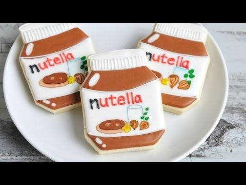 I made Nutella Cookies. In this video I show you how to decorate sugar cookies with royal icing to make them look like Nutella Jar. Now be honest, did I fool...