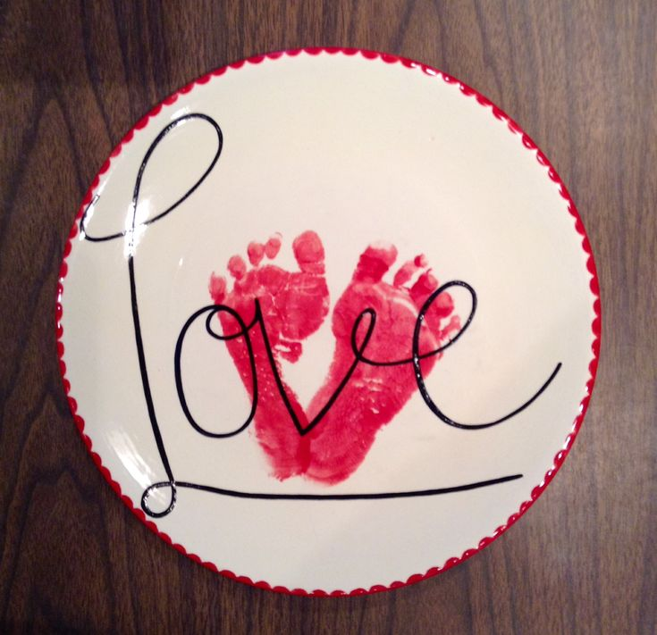 """""""Love"""" Footprint Plate 