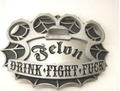 Felon's Brass Knuckle Belt Buckle