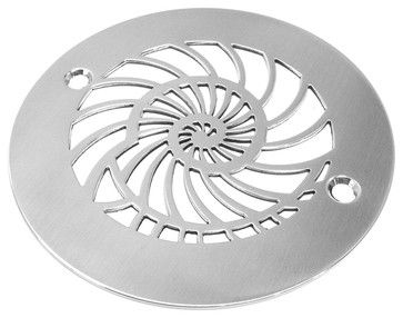 Oceanus Nautilus Shower Drain, Brushed Stainless/Nickel - beach-style - Showerheads And Body Sprays - Other Metro - Designer Drains houzz.com